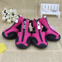China-made stylish running pet boots pink pet shoes for dog