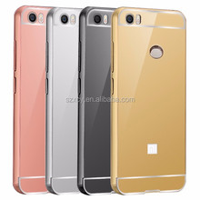 Wholesale mirror back cover metal Aluminum bumper cell phone case for Xiaomi mi max