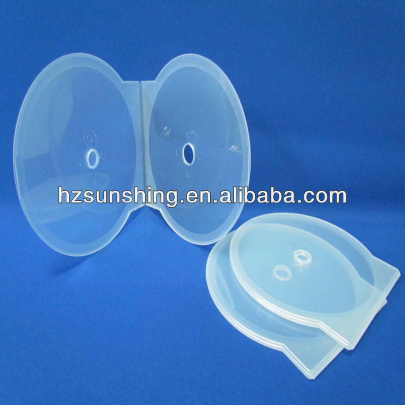 12cm single clear clam-shell case