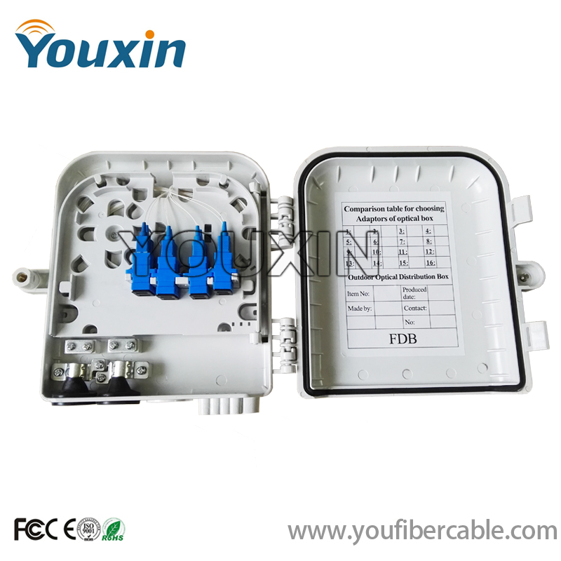 fiber distribution box FTTH splitter distribution box 8 core wall mounted Fiber Optic Splitter Box