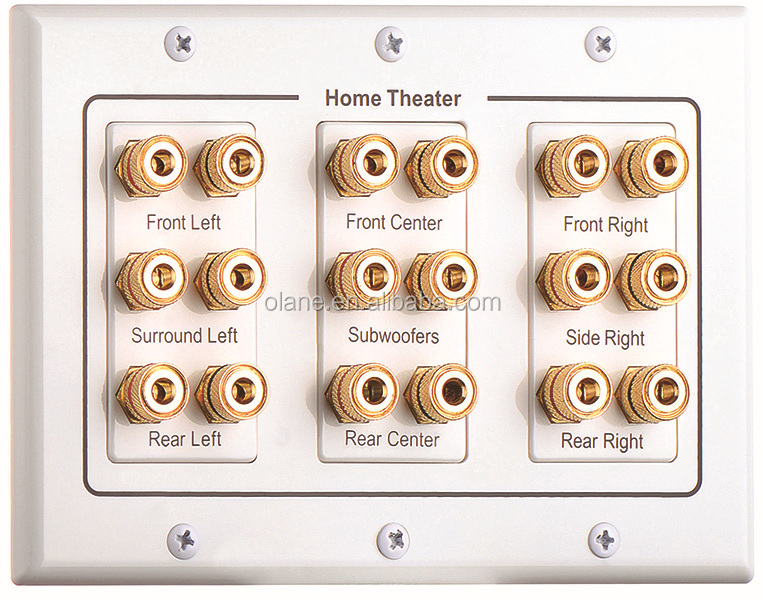 Home Theater Wall Plates home theater 7.1 surround sound speaker wall plate audio banana