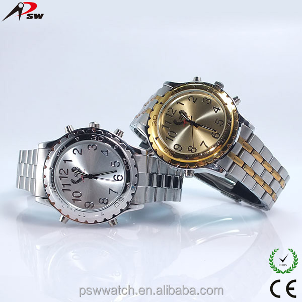 good quality stainless steel case back clock wrist watch talking watches for kids