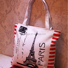 2016 nice custom printed canvas tote bags in shopping bag