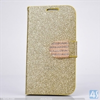 bling glitter chrome diamond leather case for iphone 5 5s P-IPH5CASE137