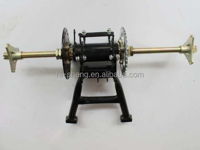 Go-cart swivel atv rear axle