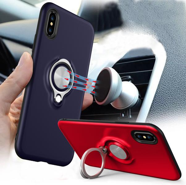 Strong powerful adsorption magnet car finger ring holder for iphone 8 case