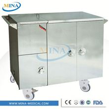 MINA-FC003 electric heat preservation steam warmer food service trolley delivery cart food warmer trolley supplier