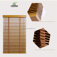 FANGJU High Quality Waterproof,Anti-UV Solid Wooden Venetian Blind for Office Home Window Curtain/Blinds