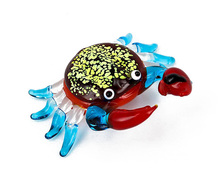 Handmade Gifts Clear Glass Animals Collections Small Murano Glass Crab