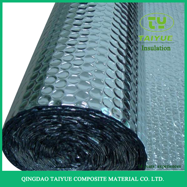 Double Sided Aluminum Foil Backed Bubble Thermal Insulation Material for Roof and Wall