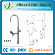 Lab use water faucet gooseneck outlet faucet anti-rust water faucet
