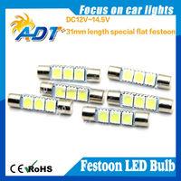 factory supplying 31mm-3smd car festoon LED light DC12V festoon 31mm smd car led light
