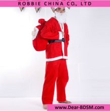 5 in 1 Red Men's Santa Claus Costume Christmas Xmas Men Male Costumes Clothes Belt Hat Suit Set Chrismas Cosplay For Men