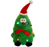 Animated Singing Dancing Light Up Rockin' Robbie Christmas Tree plush toy