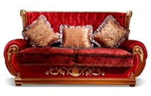 Luxury classic sectional sofa living furniture antique hand carved wood sofa