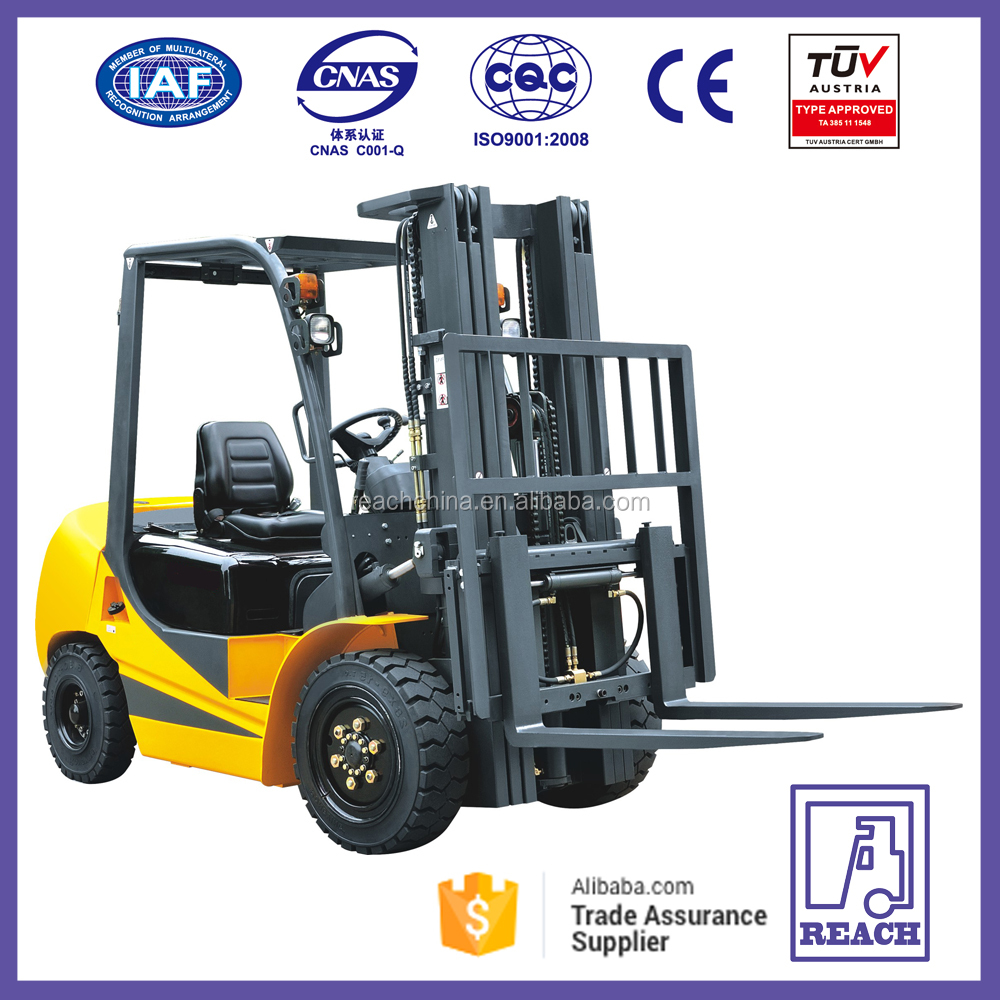 China New 3.5 Ton Hydraulic Cylinder Diesel Forklift Truck Price