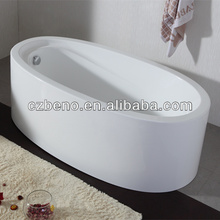 BN-128 Stand alone bathtubs only for soaking with luxury plastic drainer