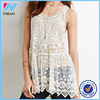 Yihao 2015 Summer New Styles Ladies Customize Fashion Design Tops Embroidered Mesh Crochet Tunic Casual Blouses For Women