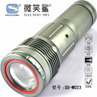 Night vision latest style high power led focus Gray induction led flashlight