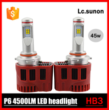 Auto lighting headlight retrofit car led bulbs 45w 4500lm