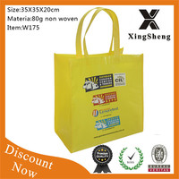 wholeasle trade show cheap tote promotional non-woven bag
