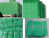 green construction safety net for scaffolding