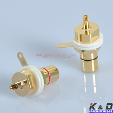 Great Supplier Gold Amplifier RCA Jack Female Chassis Connector
