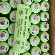 Hot sale plat top high top 1.2v nimh battery pack ni-mh 1.2v aa 1800mah rechargeable battery