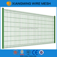 PVC spraying bending metal wire mesh fencing for sale