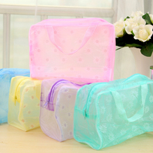free sample most popular custom made utility large storage clear pvc cosmetic bag