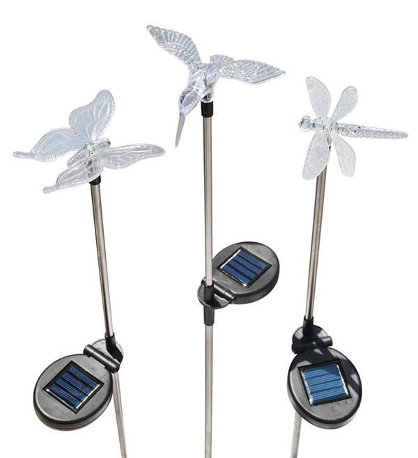 Hummingbird, Dragonfly and Butterfly Outdoor Decoration Solar Garden Stake Lights