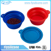 China manufacture 100% Food grade collapsible silicone pet bowl