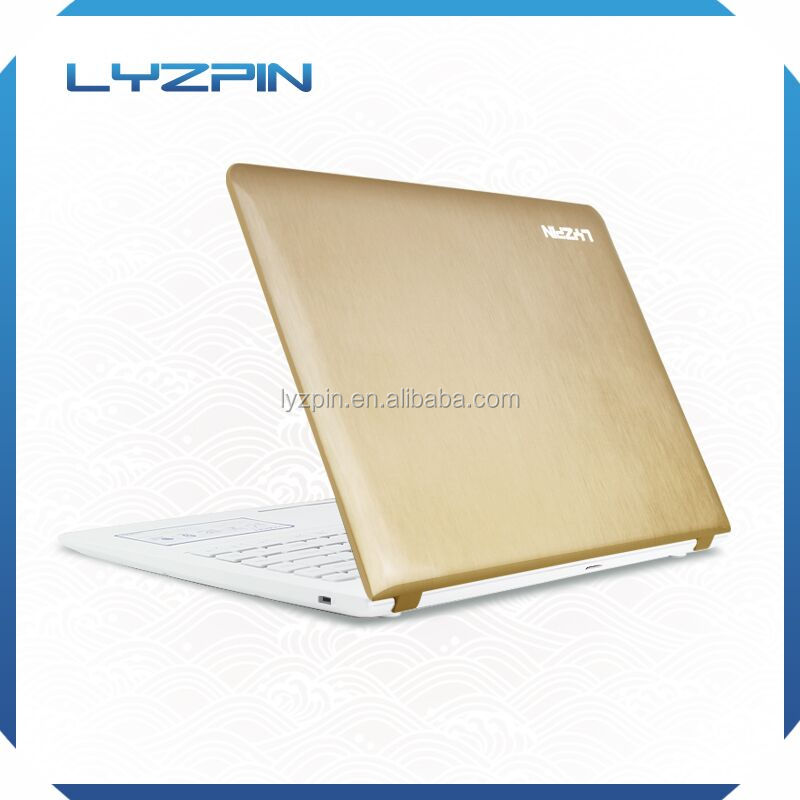 Ultra-thin Brushed piano painting Golden Intel celeron 14inch computer in laptop