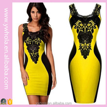 Wholesale Women Fashion Slimming Sexy Yellow Mother Of The Bride Dress