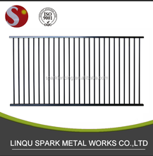 Aluminium black fence and fencing panels