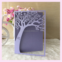 2016 Customized Birthday Greeting Card,Wedding tree design fold invitation card/ thank you card / gift paper card printing