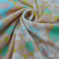 1mm plush floral pattern printed polyester fabric
