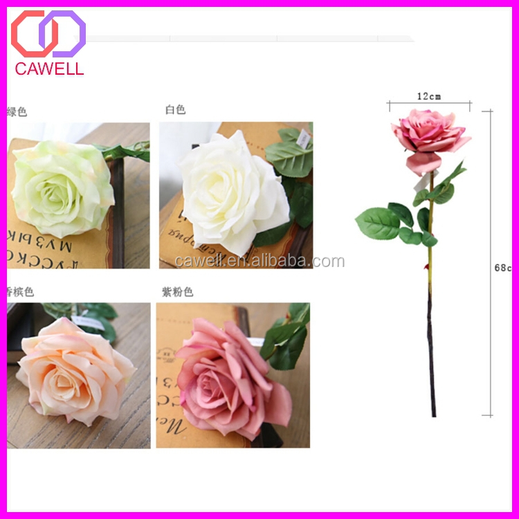 Natural touch single multi colored silk artificial rose for Natural multi colored roses