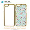 Fancy 2D sublimation electroplated cell Phone Case for iPhone 6, blank phone cover, 2D phone wallet, plastic shell