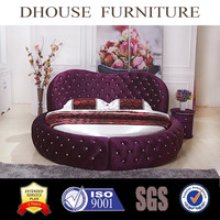 High quality king size crystal round bed on sale R3