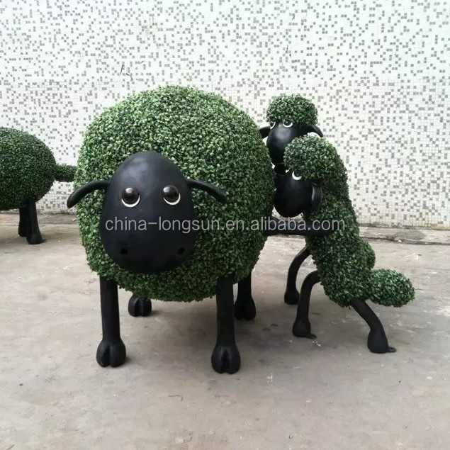 LSD-1216456 HOTSALE decorative fake grass/moss artificial shrubs topiary animal shape lion/bear/swan/elephant topiary for home