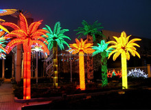 Outdoor Christmas Decoration Palm Projection LED Tree Light, Color Changing Coconut Maple Sakura Giant Led Tree Light
