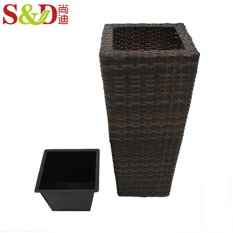 Outdoor eco-friendly high quality plastic planter handmade flower garden pots for plants