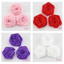 ready Handmade Colorful Mini satin ribbon roses