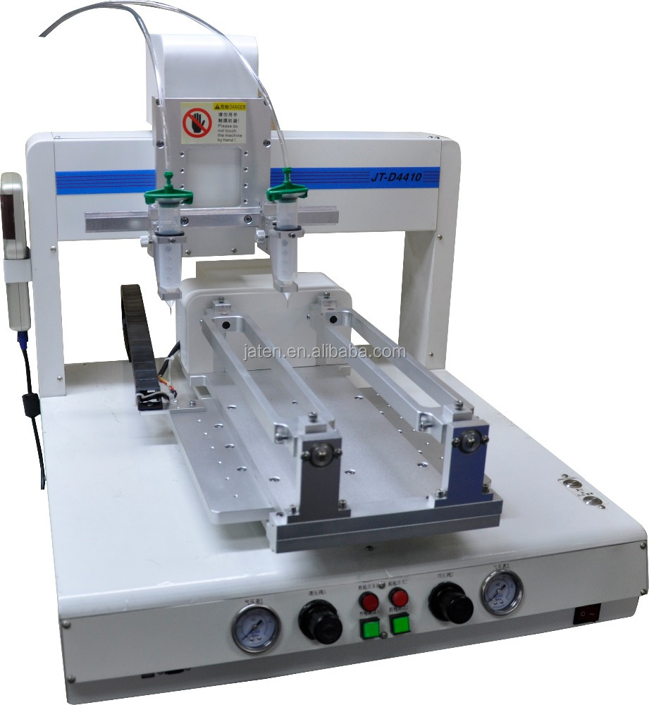 JT-D4410 JATEN Automatic Glue Dispensing Machine with Two Glue Guns from China Factory Made in guangdong China
