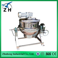 industrial stainless cooking pots double jacked kettle tomato sauce packaging machine