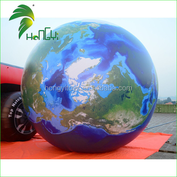 High Quality Giant Inflatable Earth Globe Balloon , Inflatable World Balloon , Inflatable Globe Ball With UV Printing