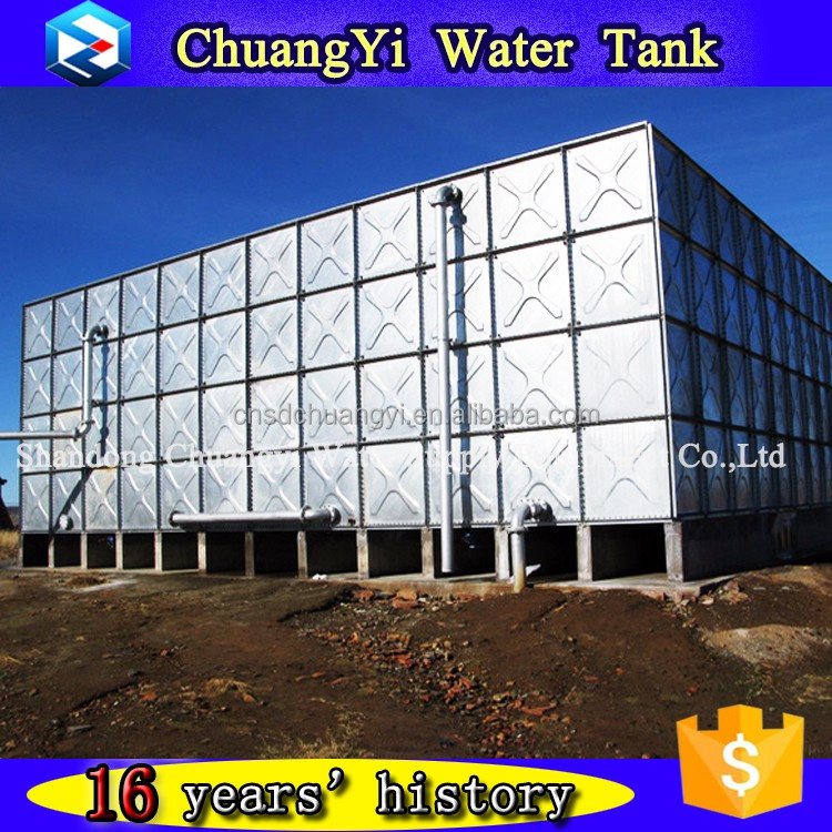 100m3 bolted sectional pressed steel tank,galvanized water pressure tank,HDG steel water tank