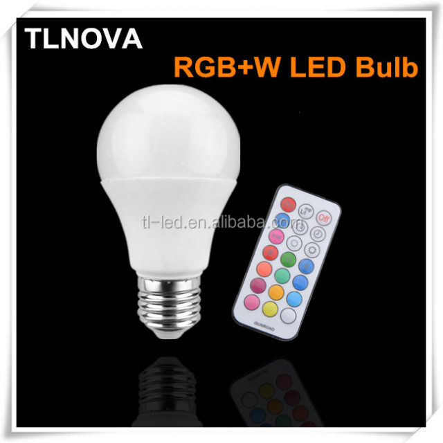 2018 Cheap Timing RGBW LED Bulb 3W 7W 10W B22 E27 RGB+W LED Lamp with Remote CE Rohs FCC