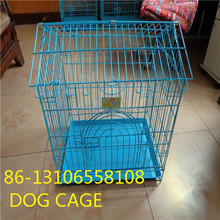 bule cheap price foldable dog crate house cage with wheel made in china skype yolandaking666